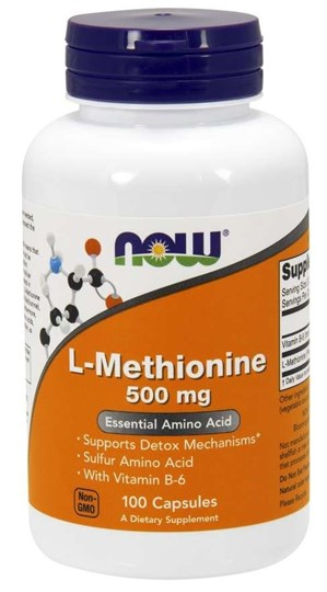 Picture of NOW L-Methionine 500mg 100caps