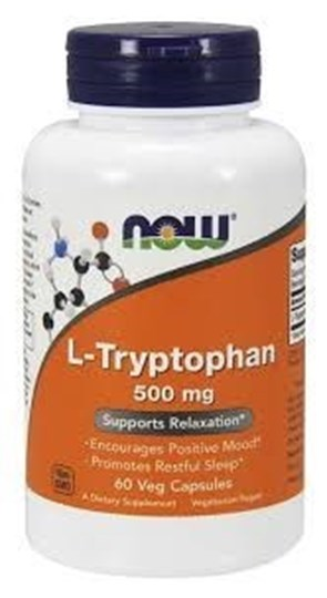 Picture of NOW L-TRYPTOPHAN 500mg 60vegcaps