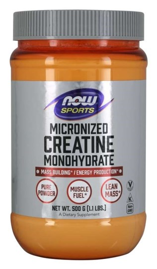 Picture of NOW Creatine Monohydrate Powder, Micronized 500gr