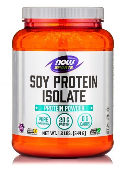 Picture of NOW Soy Protein Isolate Non-GMO Unflavored Powder 544gr