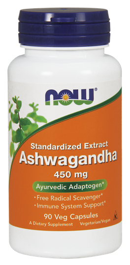 Picture of NOW Ashwagandha Extract 450 mg 90Veg Capsules