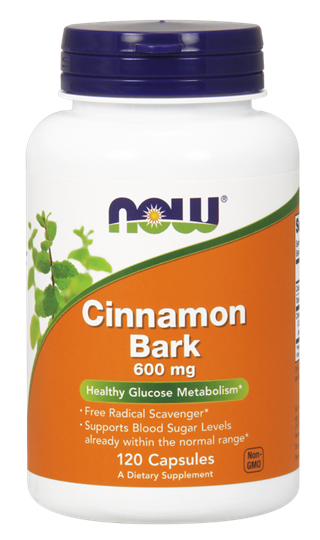 Picture of NOW Cinnamon Bark 600 mg 120Capsules