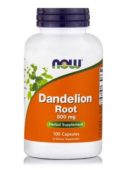 Picture of NOW Dandelion Root 500 mg 100Capsules