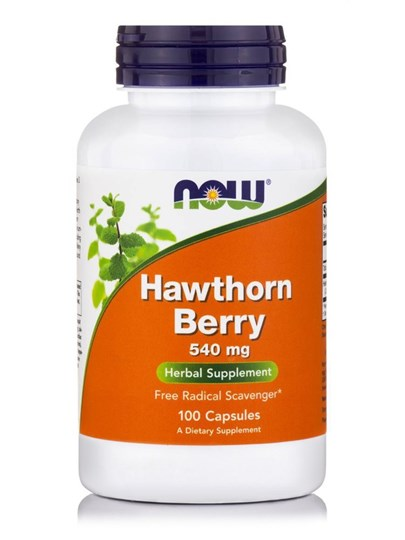 Picture of NOW Hawthorn Berry 540 mg 100Veg Caps