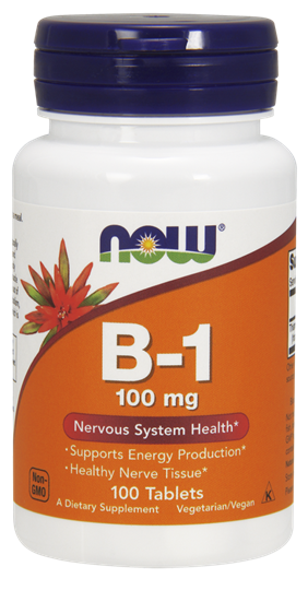 Picture of NOW Vitamin B-1 (Thiamine) 100 mg 100 Tablets