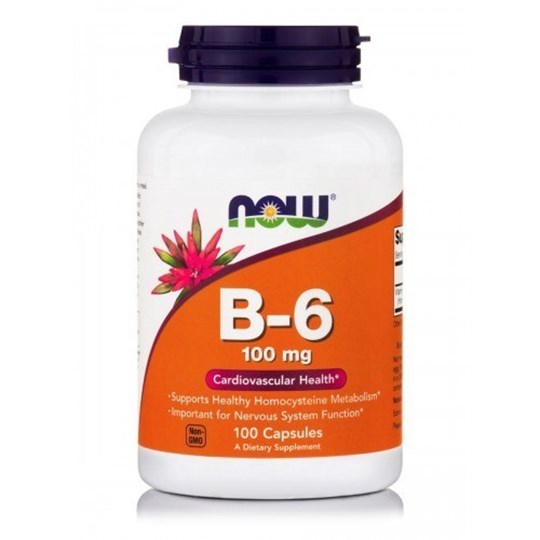 Picture of NOW  Vitamin B-6 100 mg 100 Capsules