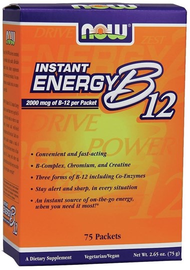 Picture of NOW Instant Energy B-12 75 Packets