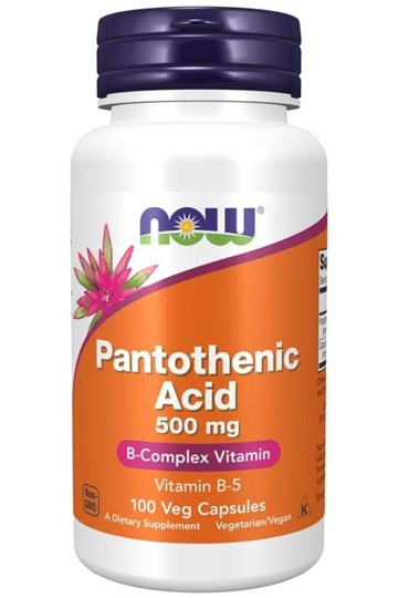 Picture of NOW Pantothenic Acid 500 mg 100Caps