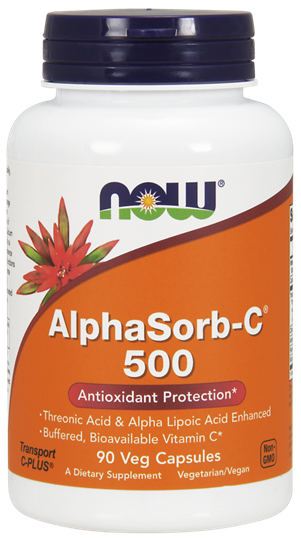 Picture of NOW AlphaSorb-C® 500 mg Veg 90Capsules