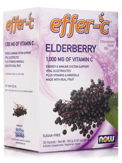 Picture of NOW  Effer-C™ Elderberry 30 Packets