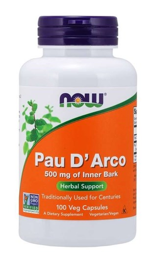 Picture of NOW Pau D' Arco 500 mg 100Veg Capsules