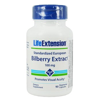Picture of Life Extension Standardized European Bilberry Extract 100mg 90caps