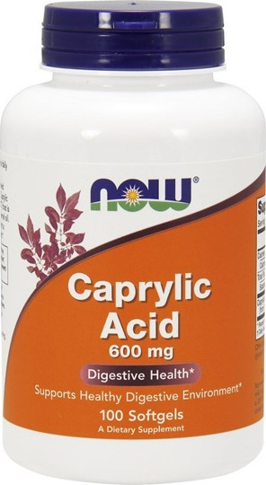 Picture of NOW Caprylic Acid 600 mg 100Softgels