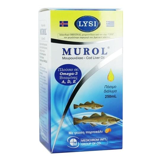 Picture of MEDICHROM Murol Μουρουνέλαιο με Γεύση Πορτοκάλι 250ml