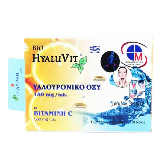 Picture of MEDICHROM Bio Hyaluvit Hyaluronic Acid 150mg with Vitamin C 500mg 30tabs