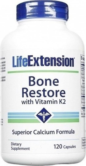 Picture of Life Extension Bone Restore with Vitamin K2 120 CAPS