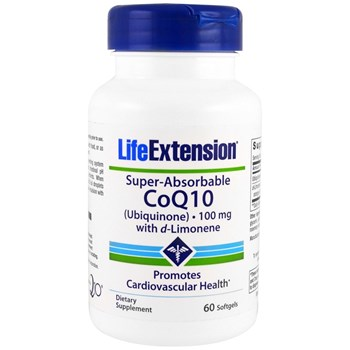 Picture of Life Extension SUPER-ABSORBABLE CoQ10 Ubiquinone with d-Limonene, 100mg 60soft