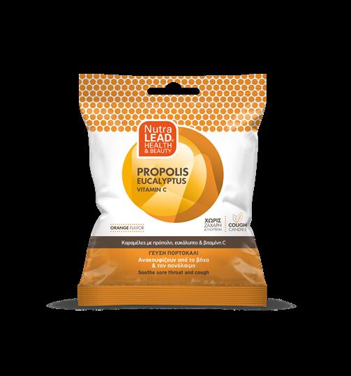 Picture of VITORGAN Pharmalead Cough Candies Propolis Eucalyptus Vitamin C Orange 40gr