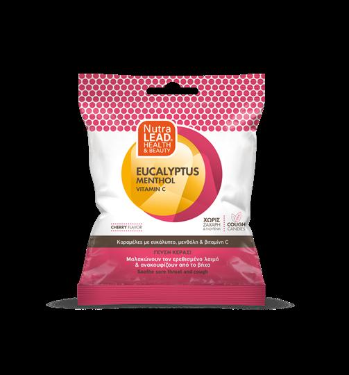Picture of VITORGAN Pharmalead Cough Candies Eucalyptus Menthol Vitamin C Cherry 40gr