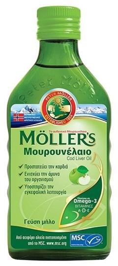 Picture of MOLLER'S Μουρουνέλαιο υγρό 250ml Apple