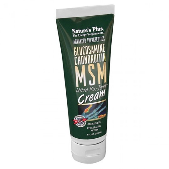 Picture of Natures Plus GLUCOSAMINE-CHONDROITIN-MSM Ultra Rx-Joint Cream 118ml