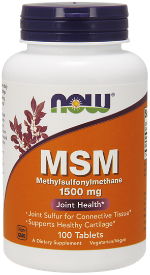 Picture of NOW MSM 1500mg (Vegetarian) 100tabs