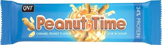 Picture of QNT Peanut Time Bars 60gr Caramel Peanut Flavour