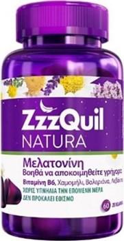 Picture of ZzzQuil Natura Συπλήρωμα Διατροφής με Μελατονίνη 60 ζελεδάκια