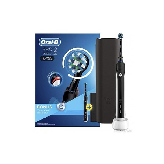 Picture of Oral-B Pro 2 2500 Black Edition με Δώρο Θήκη Ταξιδίου 1τμχ