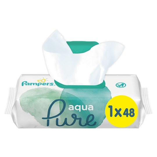Picture of Pampers Aqua Pure Μωρομάντηλα 1×48τεμ