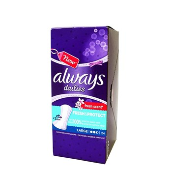 Picture of ALWAYS ΣΕΡΒΙΕΤΑΚΙΑ DAILIES FRESH & PROTECT LARGE/FRESH SCENT (24τεμ.)