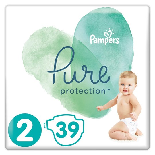 Picture of Pampers Pure Protection No.2 (4-8kg) 39 Πάνες