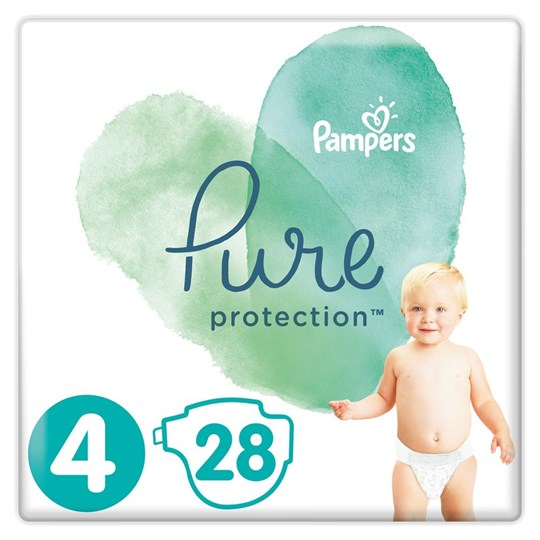 Picture of Pampers Pure Protection No.4 (9-14kg) 28 Πάνες