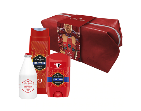 Picture of Old Spice Set Captain Deodorant Stick 50ml + Old Spice Captain Shower Gel+Shampoo 250ml + Old Spice Captain After Shave Lotion 100ml ΔΩΡΟ Νεσεσέρ