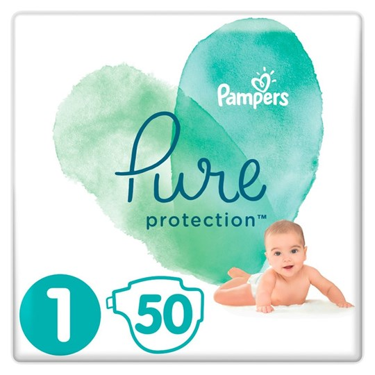 Picture of Pampers Pure Protection No.1 (2-5kg) 50 Πάνες