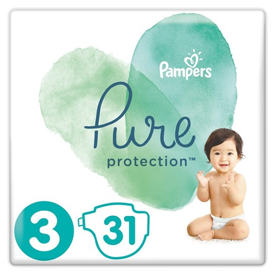 Picture of Pampers Pure Protection No.3 (6-10kg) 31 Πάνες