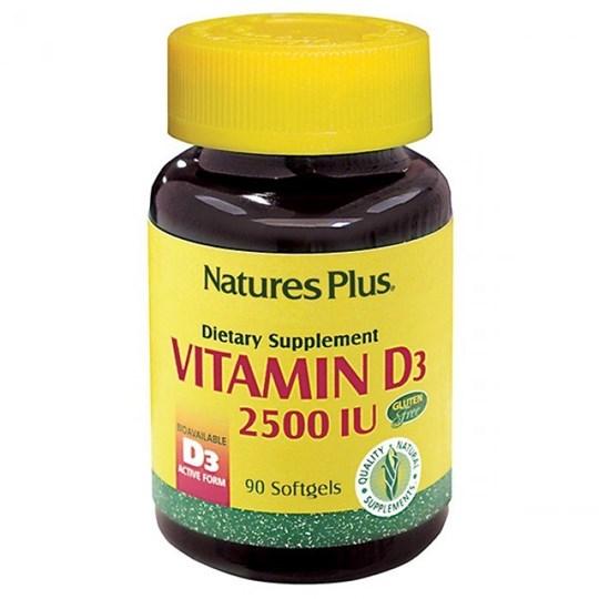 Picture of Natures Plus VITAMIN D-3 2500IU 90SOFTGELS