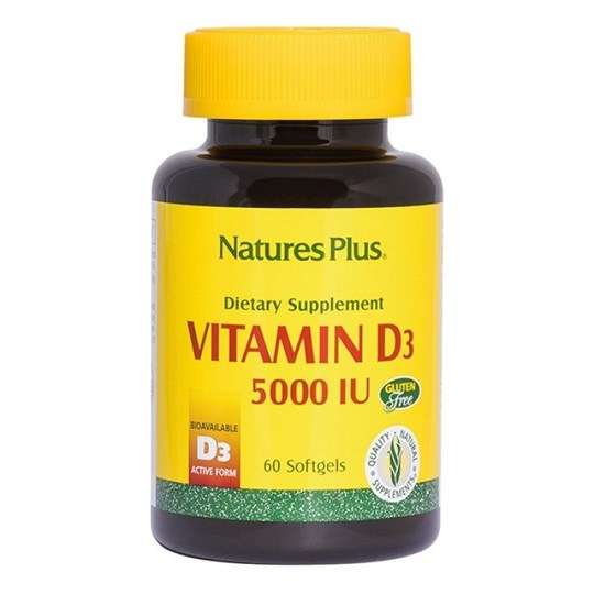 Picture of Natures Plus VITAMIN D-3 5000IU 60SOFTGELS