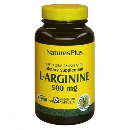 Picture of NATURE'S PLUS L-Arginine 500mg 90vcaps