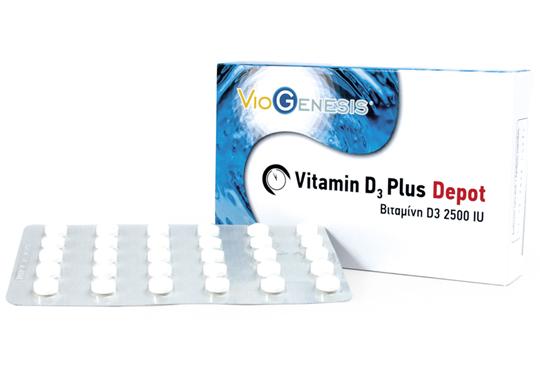 Picture of Viogenesis Vitamin D3 Plus Depot 2500iu 90 κάψουλες