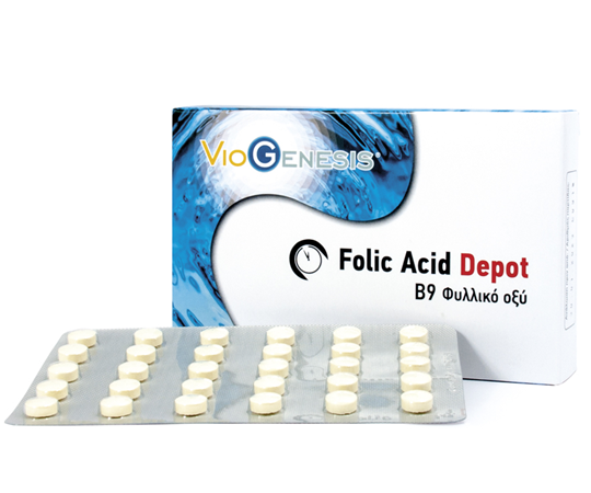 Picture of Viogenesis Folic Acid Depot 600μg 90 ταμπλέτες