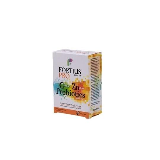 Picture of Geoplan Fortius Pro Vitamin C 1000 mg & Zinc 20 mg & Probiotics 60 disp tabs