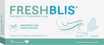 Picture of Bluestone Pharma Freshblis Προβιοτικά σε Μορφή Τσίχλας 10τμχ