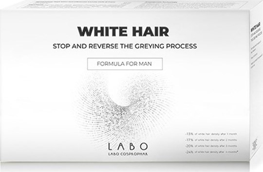 Picture of Labo White Hair Treatment Man Stop Reverse Greying Process 20vials x 3.5ml