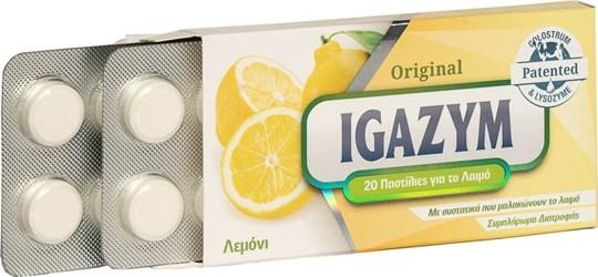 Picture of Igazym Original Παστίλιες που Μαλακώνουν το Λαιμό με Άρωμα Λεμόνι 20τμχ
