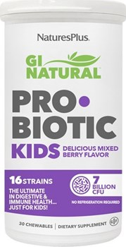 Picture of Natures Plus GI Natural Probiotic Kid 30 chewables