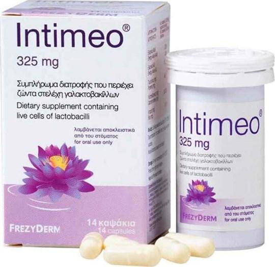 Picture of FREZYDERM Intimeo 325mg Συμπλήρωμα Διατροφής Γαλακτοβακίλλων, 14 Κάψουλες