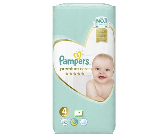 Picture of Pampers Premium Care No 4 (9-14Kg) Πάνες 52Τμχ
