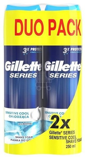 Picture of Gillette Series Sensitive Cool Shave Foam 2 X 250ml
