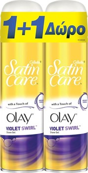 Picture of Gillette Satin Gel Touch Of Olay Violet 200ml + 200ml
